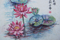 King Fisher & Water Lilies (thumbnail)